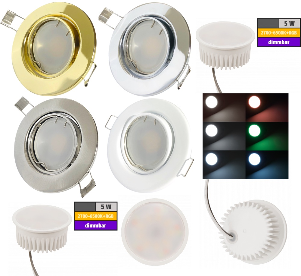 Smarte LED Einbaustrahler
