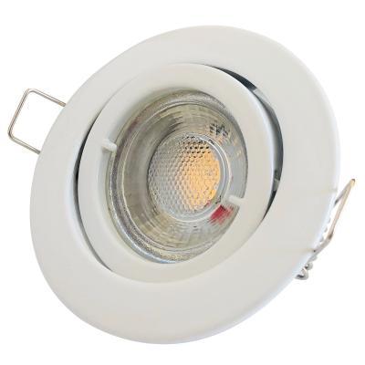 6er Set = LED Decken Einbaustrahler 230Volt / 3W - 5W oder 7Watt / Matt Silber