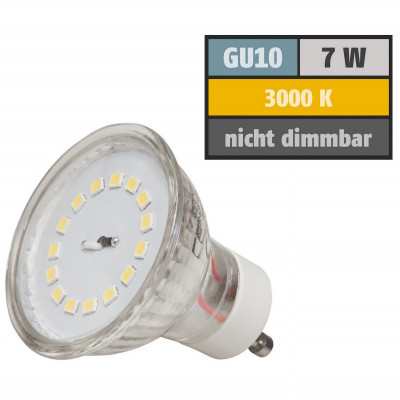 4er Set - SMD LED Einbaustrahler Tom | 12Volt | 3Watt | inklusive LED Trafo 15W