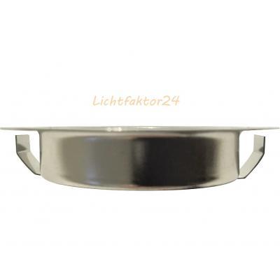 Kleiner Möbel Einbauspot 12V / 10W / Halogen G4 / Lochausschnitt = 50mm / Chrom glänzend