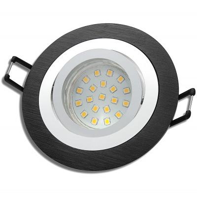 SMD LED Einbaustrahler Sandy / 3 - Stufen Dimmbar per Lichtschalter / 230Volt / 5W / Schwarz