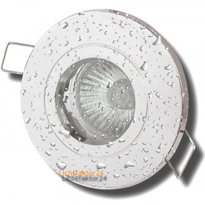 LED Einbauleuchte Flatty / 230V / 4W / 330Lumen / Ø=80mm / Loch=71mm / ET=26mm / Weiss
