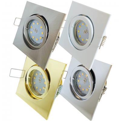 SMD LED Einbauleuchte Dario / 230V / 3Watt / Quadratisch / Aluminium