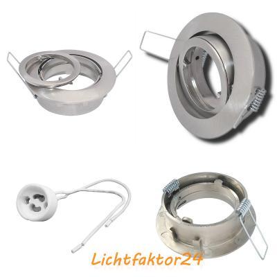 Sets = LED Badeinbaustrahler Nautik 230V und Einbauspots Dario 230V / 7W=70W / EEK A+ / Quadratisch