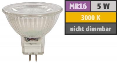 Reflektor COB LED Leuchtmittel 12Volt - 5Watt - WARMWEISS - 400 Lumen - Sockel Gu5.3