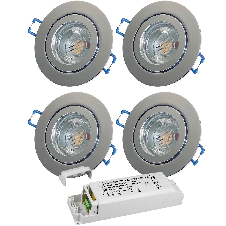 Color Bad Einbaustrahler IP443WattLEDPassender LED Trafo 12VoltBi