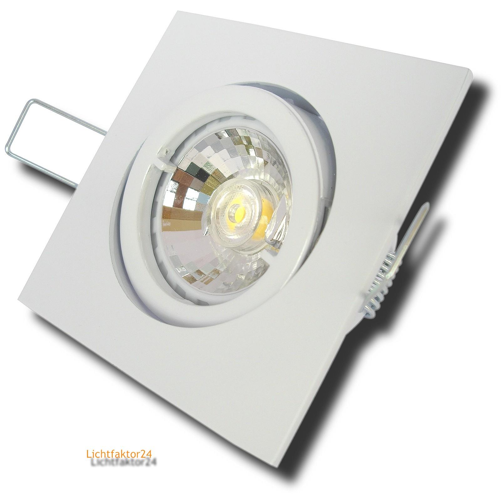 einbauleuchte dario 230v mcob led 7watt dimmbar aluminium gu10 schwenkbar. Black Bedroom Furniture Sets. Home Design Ideas