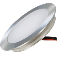 Flacher SMD LED Bodeneinbauspot 12V 0.9W für Korkböden, Laminat, Parkett, Fliesen usw. Begehbar - IP67