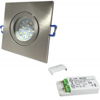 12Volt | SMD LED Bad Einbauleuchten IP44 | 3Watt | LED Trafo dabei