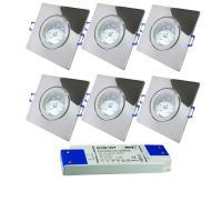 8er Set = SMD LED Einbauleuchten Timo | 3Watt - 5Watt oder 7Watt | 230Volt | Energieeffizienzklasse A+