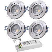 12Volt Bad Einbaustrahler Marina / IP44 / 5W / COB LED / Rostfrei / inklusive LED Trafo