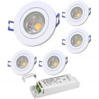 2er Set = LED Einbaustrahler Sandy / 3W - 5W oder 7Watt / 230Volt / Aluminium / Drehbar / EEK A+