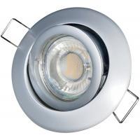6er Set = MCOB LED Einbaustrahler Mia / 3W - 5W oder 7Watt / 230Volt / Alu gebürstet