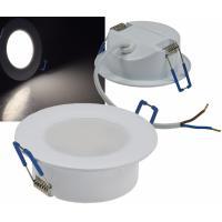 12Volt / Feuchtraum / Einbauleuchte / LED / 3W / IP44 / Aluminium / Rostfrei / Chrom Glänzend