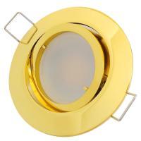 5er Set = MCOB LED Einbauspots Sandy 230V 7W=52W DIMMBAR - Aluminium gebürstet - Gu10 Hochvolt