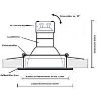 5W LED / Bad Einbaustrahler / 230Volt / Wasserdicht / IP54 / Rostfrei / Schutzklasse II / EEK A+