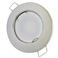 SMD LED Einbaustrahler Tom | 230Volt | 9 Watt | 900  Lumen | Silber