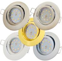 SMD LED Einbaustrahler Timo / 230Volt / 3Watt / Druckguss / EEK A+ / Schwenkbar / Bajonettring