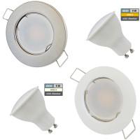 9 Watt LED Einbaustrahler Tom | 900 Lumen | 230Volt | Gu10 Fassung | IP20