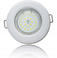LED Einbaustrahler Tom | Flach | 230V | 5W | ET-28mm | Weiss | Starr