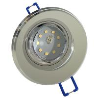 7er Set = Einbaustrahler Tomas / LED Leuchtmittel 230Volt / 3W - 5W oder 7Watt / 45° Schwenkbar / Stahl