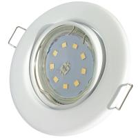 6er Set = Einbaustrahler Tomas / LED Leuchtmittel 230Volt / 3W - 5W oder 7Watt / 45° Schwenkbar / Stahl