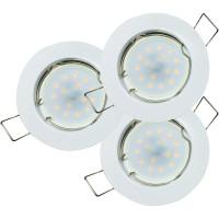 8er Set = SMD LED Einbauleuchten Jan | 3Watt - 5Watt oder 7Watt | 230Volt | 110° Abstrahlwinkel