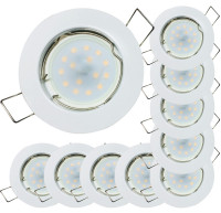 5er Set - SMD Decken Einbaustrahler Timo 12Volt mit 3W=25W Power LED + Trafo. Energieeffizienzklasse A