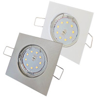 Flache SMD LED Einbaustrahler Tom / 230V / 5W oder 7Watt / Eckig