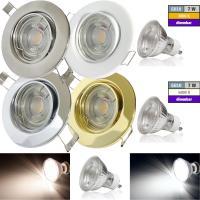 230Volt / Decken- Einbauspot Tomas / 7Watt / LED Leuchtmittel / Gu10 / Stufenlos DIMMBAR