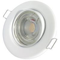 Chrom glänzend / LED Badezimmer Einbauleuchte Marina / 3W, 5W oder 7Watt / Ø=83mm / IP44 / 230Volt