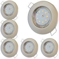 3er Sets LED-Einbaustrahler Tom | 230V | 9W | 900Lumen | Silber