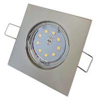 8er Set: COB LED Einbauspots Sandy 230V 7W=52W DIMMBAR - Aluminium gebürstet - Gu10 Hochvolt