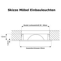 9er Set = Einbaustrahler Timo / MCOB LED Leuchtmittel 230Volt / 3W - 5W oder 7Watt / Schwenkbar