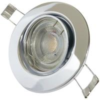 Sets = Bad Einbaustrahler Aqua44 230V und Einbauspot Timo 230Volt mit 5W=50W Power LED Leuchtmittel Gu10