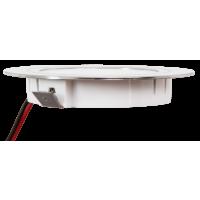 9 Stück Flache LED Möbel Einbaustrahler Mira - 12V - 2,4W - Loch 58 - 60mm