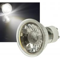 8er Set = LED Decken Einbaustrahler 230Volt / 3W - 5W oder 7Watt / Matt Silber