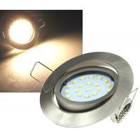 LED Einbauleuchte Flatty / 230V / 5W / 470-490Lumen / Einbautiefe=32mm / Weiss