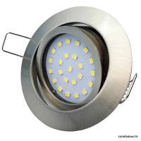 LED Einbauleuchte Flatty / 230V / 4W / 330Lumen / Ø=80mm / Loch=71mm / ET=26mm / Silber