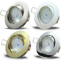 LED Einbauleuchte Flatty / 230V / 5W / 470-490Lumen / Einbautiefe=32mm / Silber
