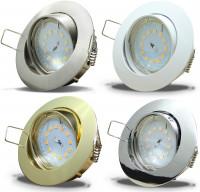 Flacher SMD LED Einbaustrahler Jan / 220Volt / 5Watt LED Lampenmodul / ET=32mm