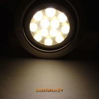 10er Set LED Einbaustrahler Alina 12Volt 3W inkl. 2 x 15W LED Treiber, Zuleitung und AMP Verteiler. Schwenkbar. ET=22mm