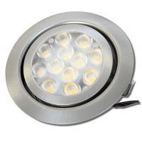 9er Set LED Einbaustrahler Alina 12Volt 3W plus 2 x 15W LED Treiber, Zuleitung und AMP Verteiler. Schwenkbar. ET=22mm
