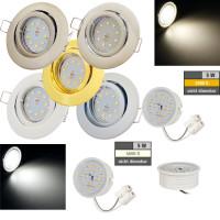 Flacher SMD LED Einbaustrahler Timo / 220Volt / 5Watt LED Lampenmodul / ET=32mm