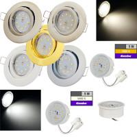 Flacher SMD LED Einbaustrahler Timo / 220Volt / 5Watt / 100% DIMMBAR  / ET=32mm