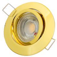 Decken Einbauleuchte Timo / 230V / 5W=50W COB LED / Aluminium / Schwenkbar / Rostfrei