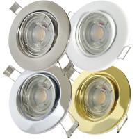 Flacher MCOB LED Einbaustrahler Tomas   230V   5Watt   ET=30mm