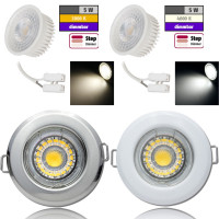 Flacher MCOB LED Einbaustrahler Tom | 230V | 5W | STEP DIMMBAR | ET=30mm