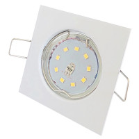 SMD LED Einbaustrahler Tom / 230Volt / 3Watt / 250Lumen / Eckig