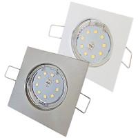 SMD LED Einbaustrahler Tom / 230Volt / 5Watt / 400Lumen / Eckig